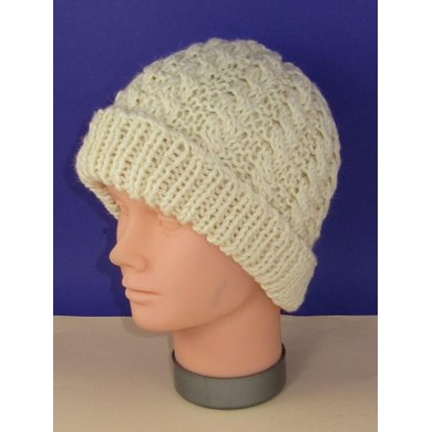 Easy Cable Chunky Unisex Beanie Hat