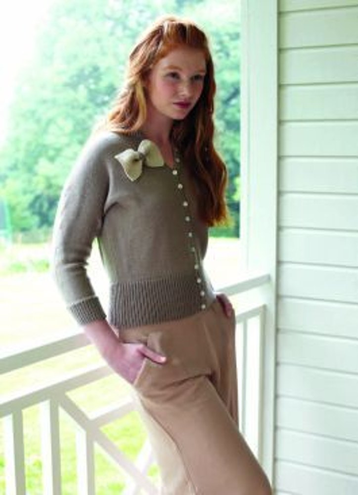 Cardigan with Bow in Debbie Bliss Baby Cashmerino - CF10 | Knitting ...