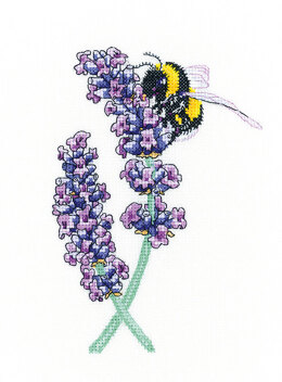 Heritage Lavender Bee Cross Stitch Kit - 11.5cm x 17cm