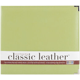"""We R Memory Keepers We R Classic Leather D-Ring Album 12""""X12"""" - Kiwi"""