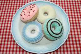 Crochet Pattern for Iced Ring Donuts / Cakes - Amigurumi Food