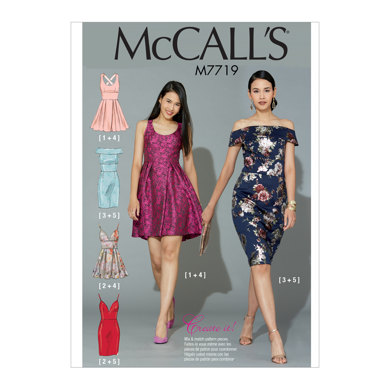 McCall's Misses' Dresses M7719 - Sewing Pattern