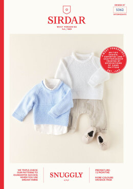 Babies Sweaters in Sirdar Snuggly 4 Ply - 5362 - Leaflet