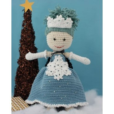 Winter Princess Lily Doll In Lily Sugar And Cream Solids Crochet