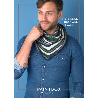 Tie Break Triangle Scarf in Paintbox Yarns Cotton DK - Downloadable PDF