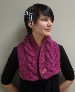 Neckwarmer in Plymouth Yarn De Aire - F417 - Downloadable PDF