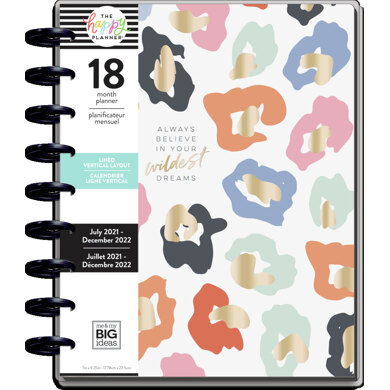 Me & My Big Ideas The Happy Planner Colorful Leopard Classic 18 Month Planner