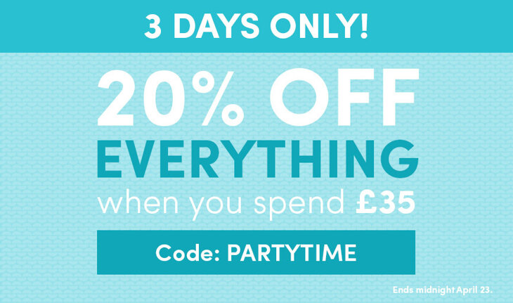 20% off everything when you spend £35!