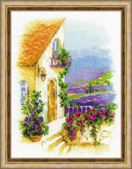 Riolis Provence Street Cross Stitch Kit - 18cm x 24cm