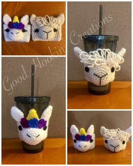 Unicorn and Llama Coffee Cozy