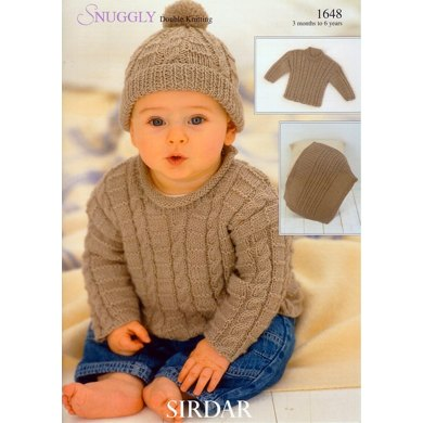 Sweater, Blanket and Hat in Sirdar Snuggly DK - 1648