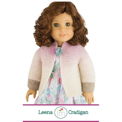 Leena Cardigan For 18 Inch Dolls Doll Clothes Knitting Pattern