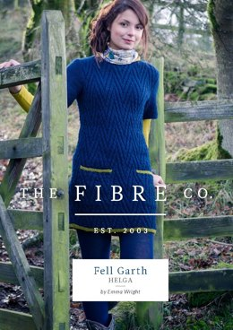Helga Chevron Dress Tunic in The Fibre Co. Cumbria - Downloadable PDF