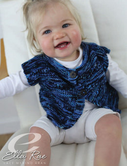 Lucie Baby Top in Ella Rae Lace Merino Aran - ER22-02 - Downloadable PDF
