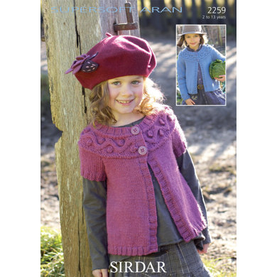 Sirdar Knitting Pattern Help : Cardigans in Sirdar Supersoft Aran - 2259 - Downloadable PDF