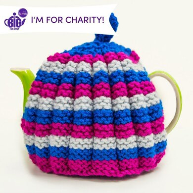 Rainbow Ruched Tea Cosy by Monica Russel