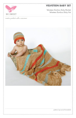 Velveteen Baby Blanket & Hat in Be Sweet Bamboo - Downloadable PDF