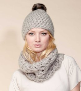 Hat, Loop, Headband & Scarf in Rico Fashion Gigantic Mohair - 210 - Leaflet