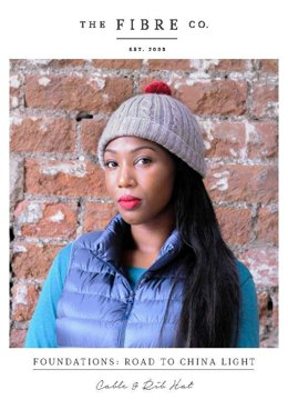 Cable & Rib Hat in The Fibre Co. Road to China Light - Downloadable PDF