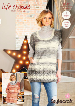Sweater and Tunic in Stylecraft Life Changes - 9542 - Downloadable PDF