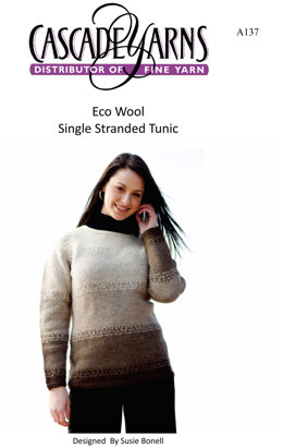 Wool Single Standed Tunic in Cascade Ecologial Wool - A137