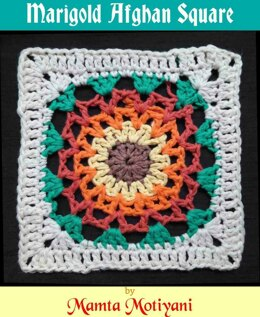 Marigold Afghan Square Esay Crochet Pattern