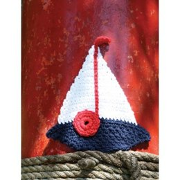 Sailboat Dishcloth in Lily Sugar 'n Cream Solids - Downloadable PDF