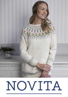 Tulip-FairIsle Sweater in Novita Nordic Wool - Downloadable PDF