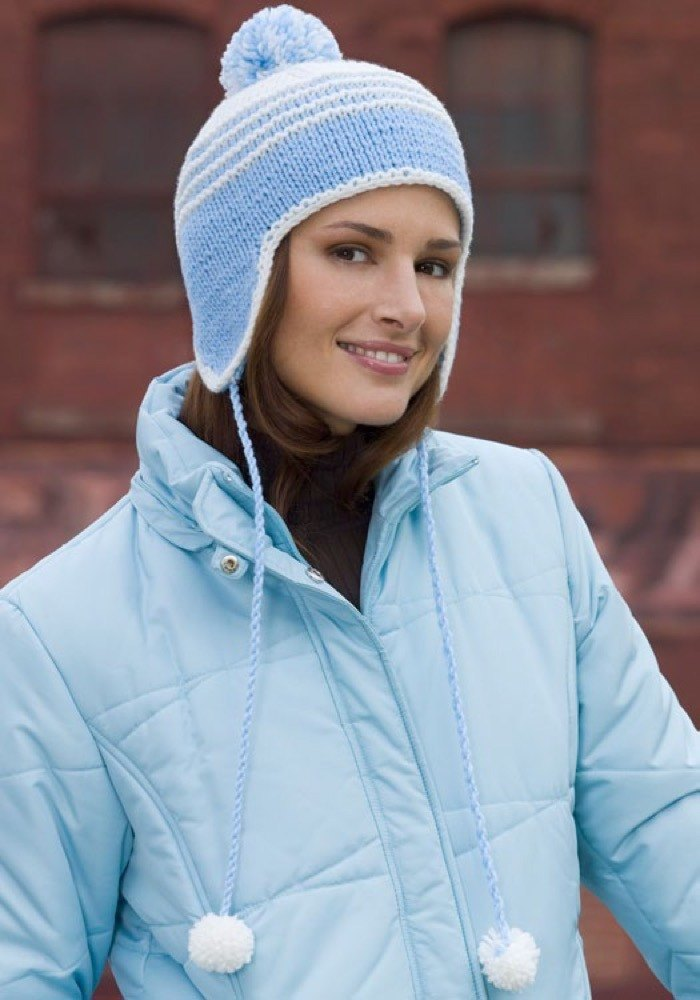 Snow Time Cap In Red Heart Super Saver Economy Solids