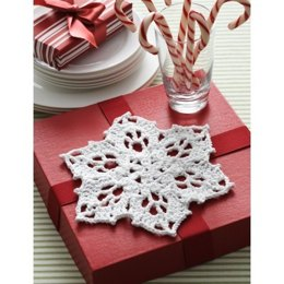 Snowflake Dishcloth in Bernat Handicrafter Holidays - Downloadable PDF