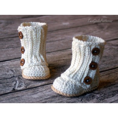 Crochet Baby Wraps Patterns : Baby Wrap Boots Crochet pattern by Two Girls Patterns ...