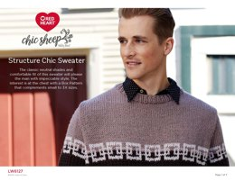 Structure Chic Sweater in Red Heart Chic Sheep by Marly Bird - LW6127 - Downloadable PDF