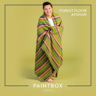 Forest Floor Afghan - Free Blanket Knitting Pattern For Home in Paintbox Yarns Simply DK by Paintbox Yarns