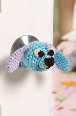 Doggie Doorknob Cosy in Red Heart Soft Baby Steps and Soft - LW4181EN - Downloadable PDF