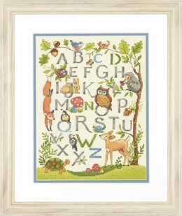 Dimensions Woodland Alphabet Cross Stitch Kit - 23cm x 30.5cm