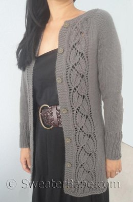 #153 Simply SweaterBabe Top-Down Cardigan