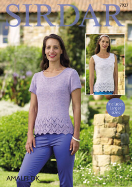Short Sleeved and Sleeveless Top in Sirdar Amalfi DK - 7927 - Downloadable PDF