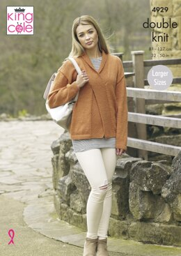 Ladies' Sweater and Slipover in King Cole Majestic DK - 4929 - Downloadable PDF