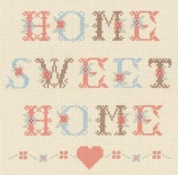 Anchor Home Sweet Home Cross Stitch Kit - 18cm x 18cm