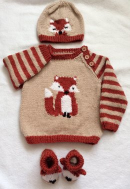 Fox Cub Sweater Set