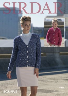 Cardigans  in Sirdar Bouffle - 7789- Downloadable PDF