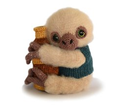 Amigurumi Sloth - Artemis the Sloth Astronomer