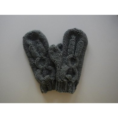 Bunny Rabbit Mittens Design 4