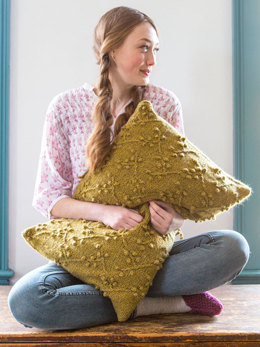 Willard Cushion in Berroco Blackstone Tweed