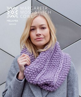 MillaMia Naturally Soft Super Chunky Margareta Moss Cowl 4 Ball Project Pack