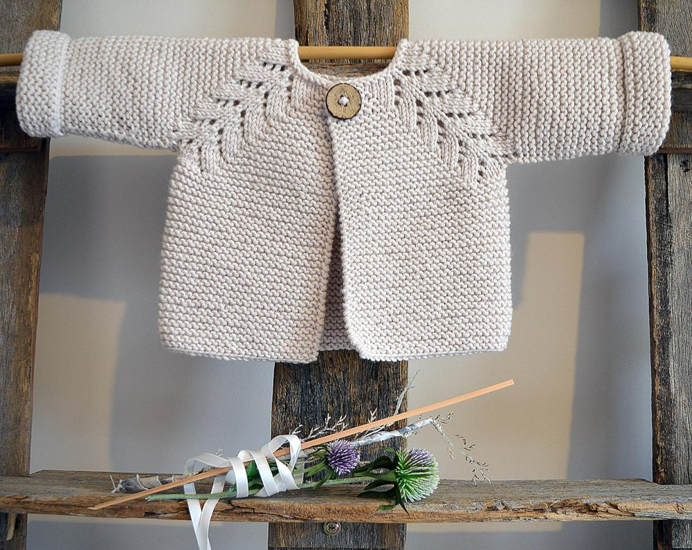 Norwegian Fir Top Down Cardigan P109 Knitting Pattern By