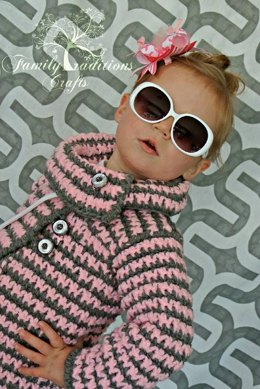Girls Vintage Houndstooth Jacket