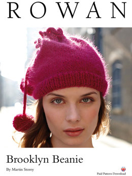 Brooklyn Beanie in Rowan Creative Focus Worsted - D143 - Downloadable PDF