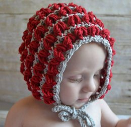 Puff Stitch Baby Bonnet