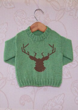 Intarsia - Deer Silhouette Chart - Childrens Sweater